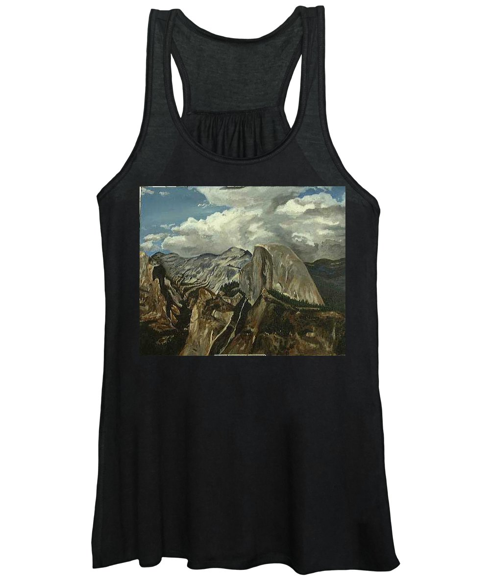 Women's Tank Top featuring the painting Half Dome by Travis Day