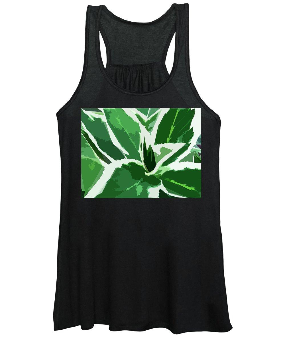 Foliage Women's Tank Top featuring the digital art Hydrangea by Gina Harrison