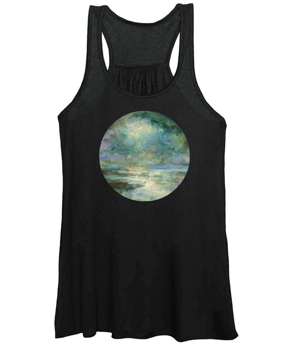 Impressionism Women's Tank Top featuring the painting Into The Light by Mary Wolf