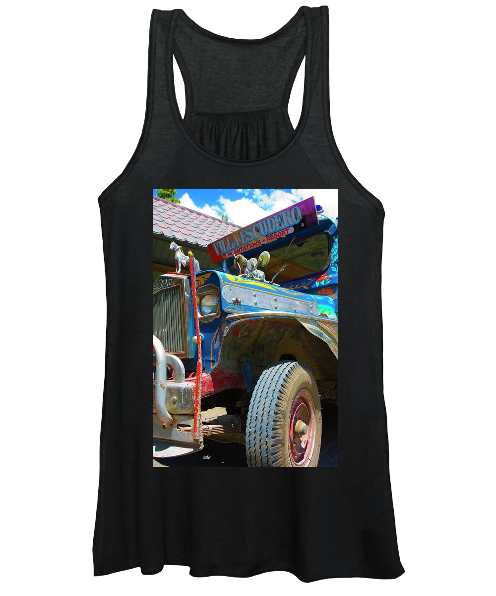 Philippines Women's Tank Top featuring the photograph Jeepney by Betsy Knapp