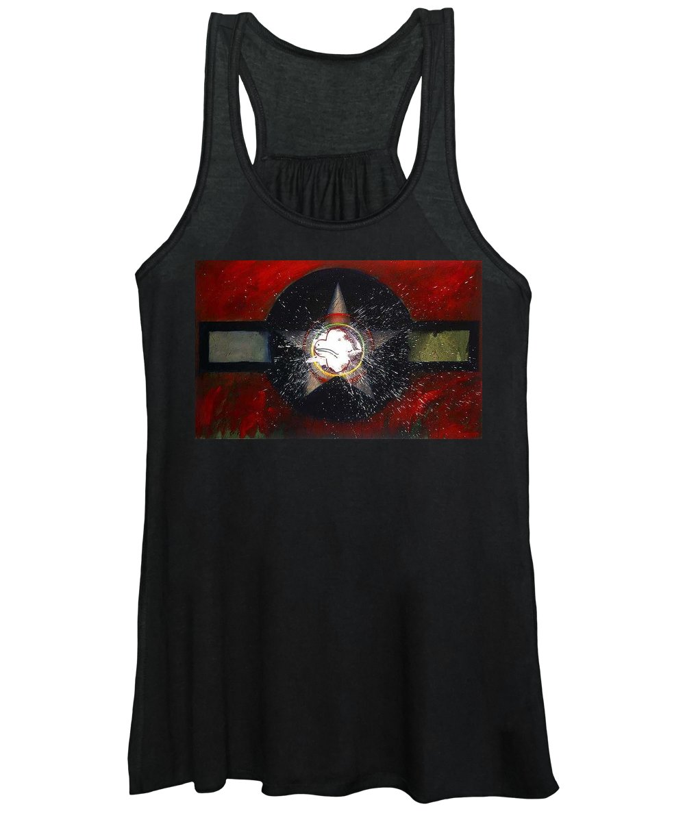 Usaaf Insignia Women's Tank Top featuring the painting My Indian Red by Charles Stuart