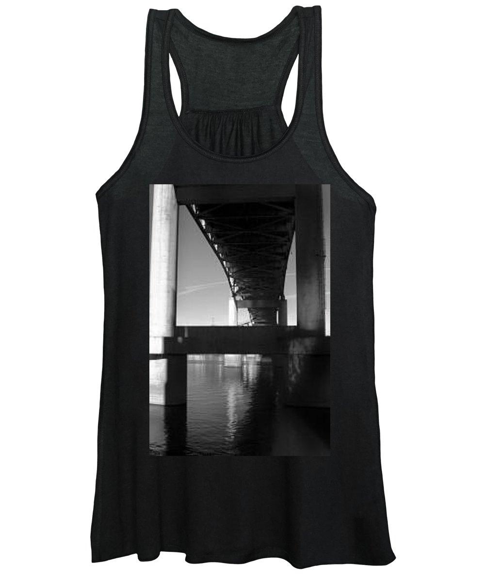 Bridge Women's Tank Top featuring the photograph Pillars Of The Willamete by Jason Sanders