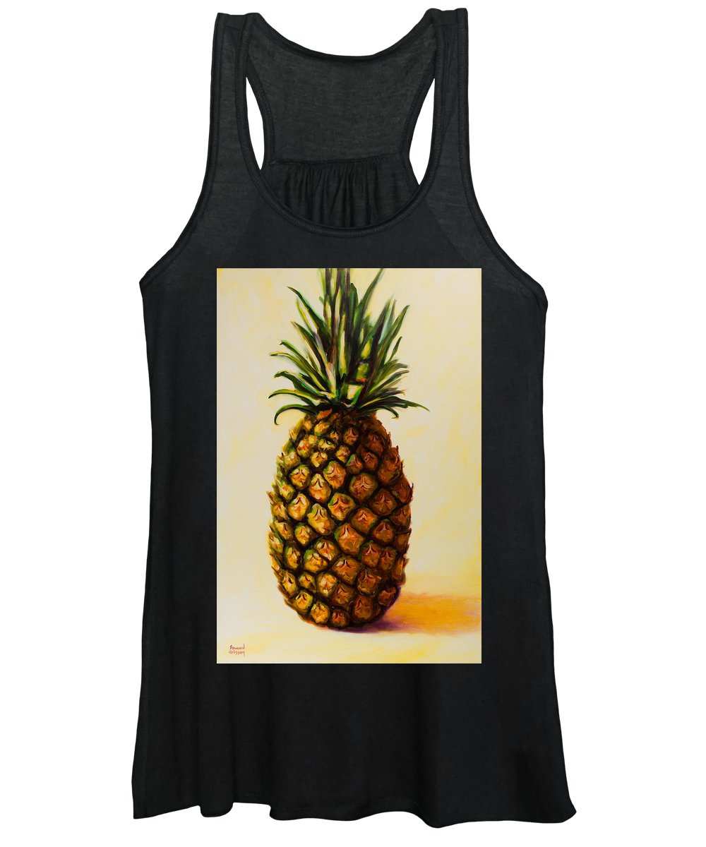 Pineapple Women's Tank Top featuring the painting Pineapple Angel by Shannon Grissom