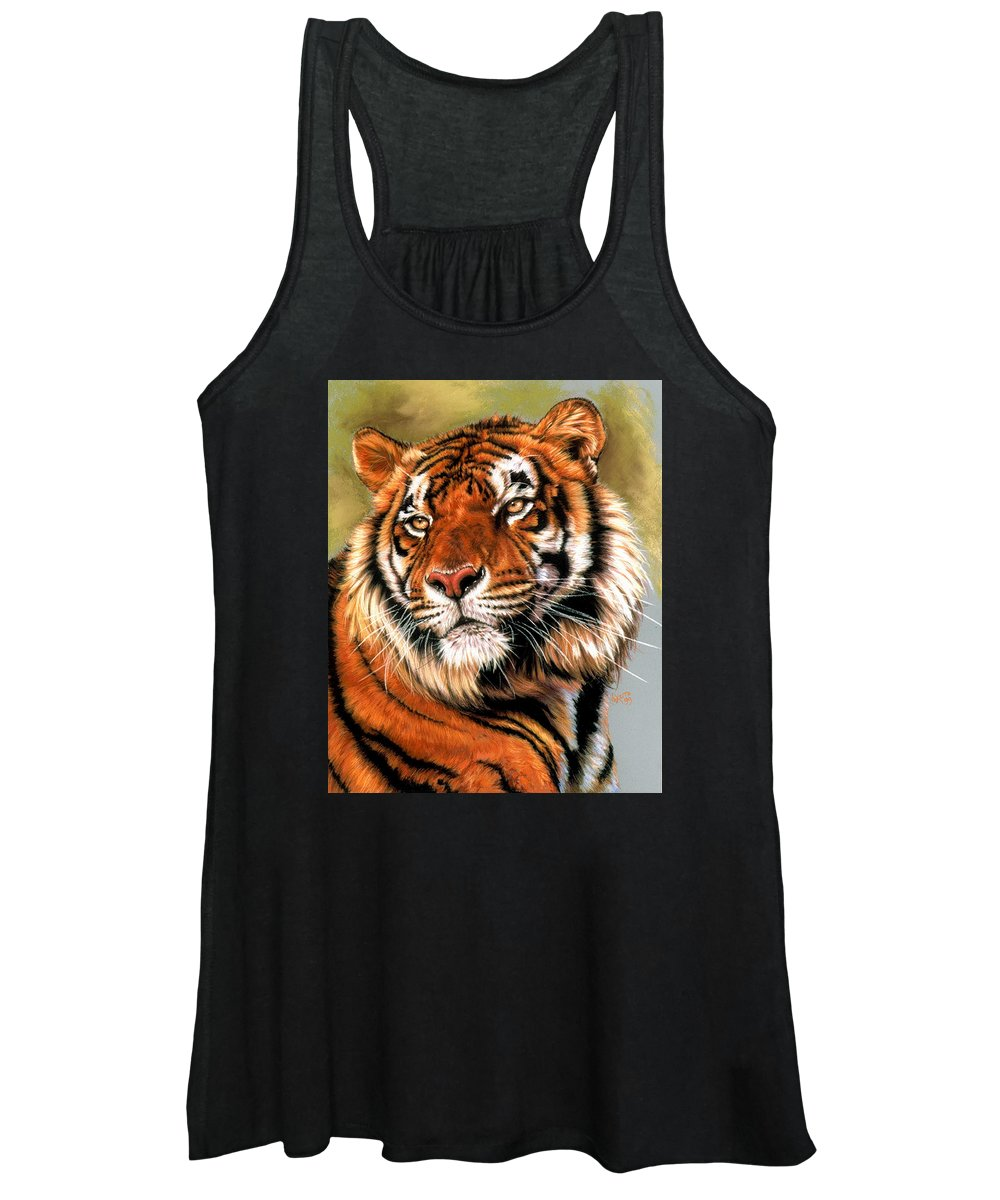 Tiger Women's Tank Top featuring the pastel Power and Grace by Barbara Keith