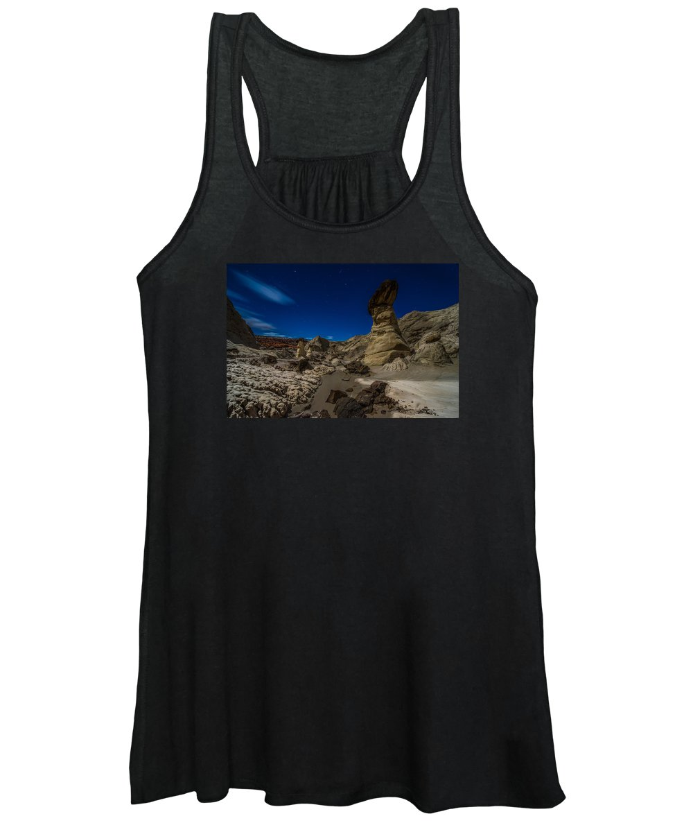 Arizona Women's Tank Top featuring the photograph Rim Rock Toadstools Grand Staircase National Monument by Larry Marshall