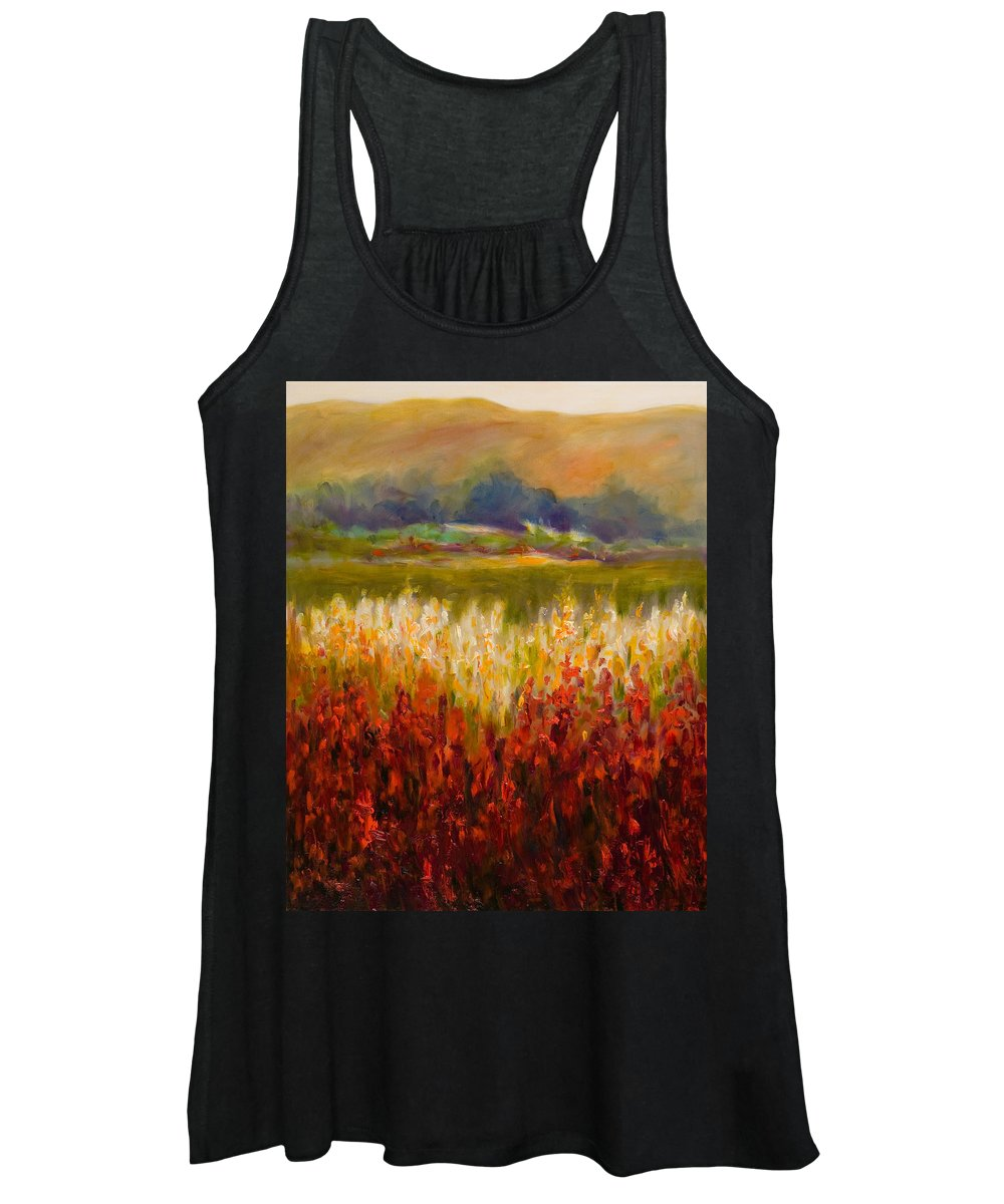 Landscape Women's Tank Top featuring the painting Santa Rosa Valley by Shannon Grissom