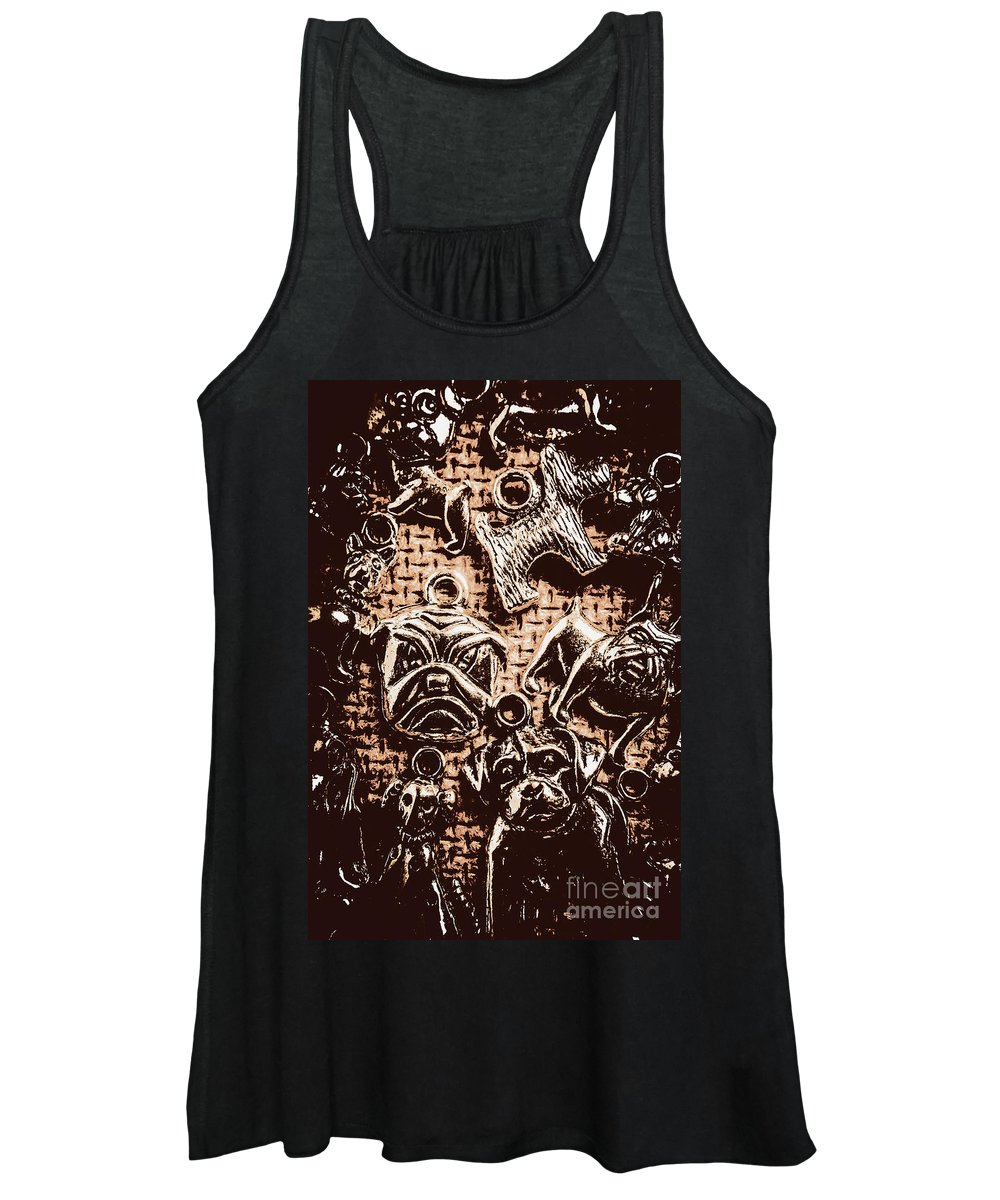 Dog Women's Tank Top featuring the photograph Silver Dog Show by Jorgo Photography - Wall Art Gallery