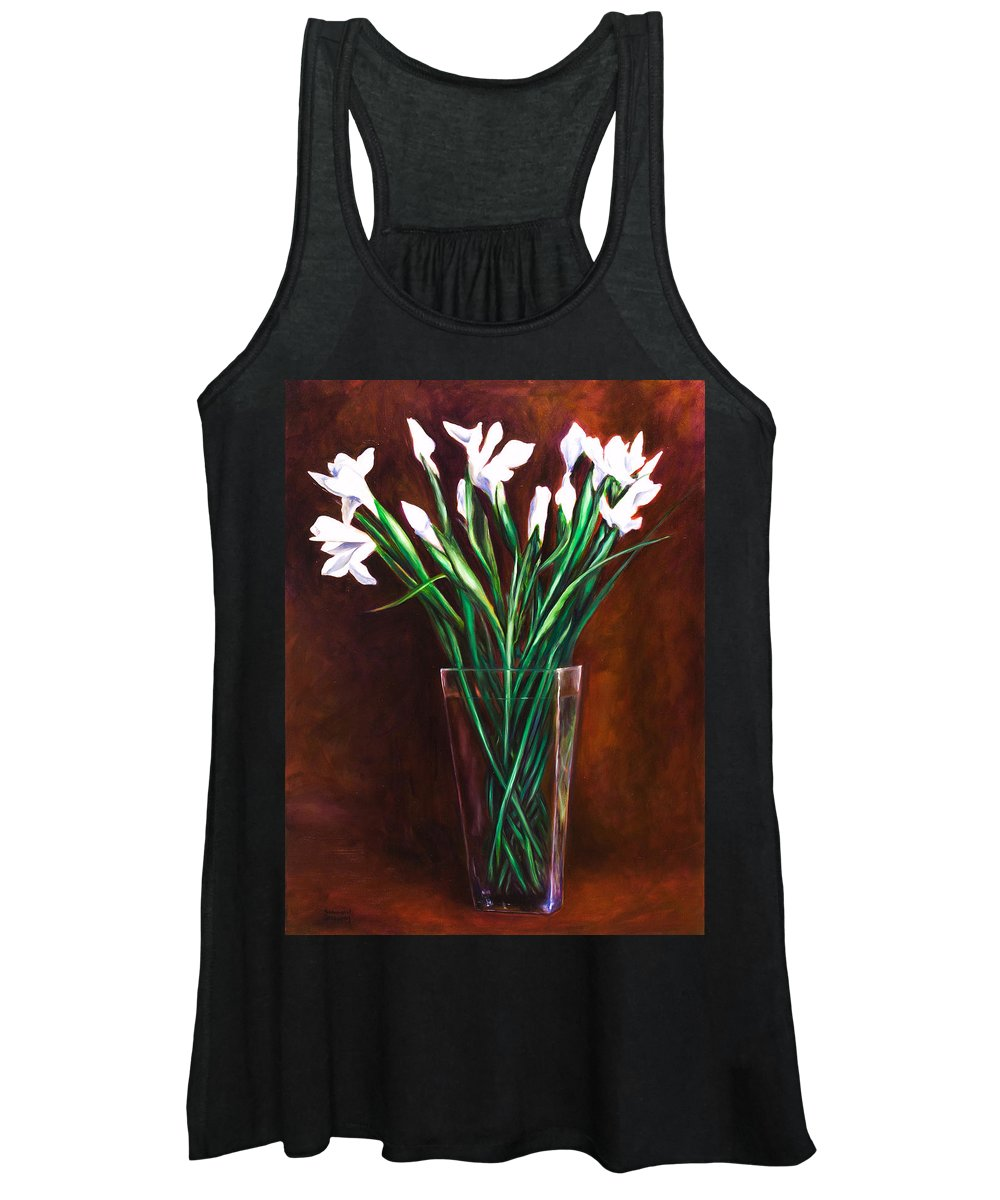 Iris Women's Tank Top featuring the painting Simply Iris by Shannon Grissom