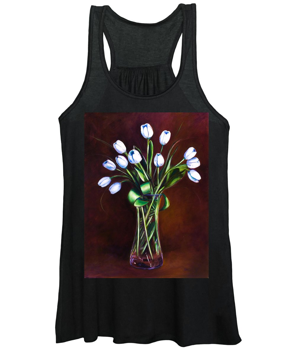 Shannon Grissom Women's Tank Top featuring the painting Simply Tulips by Shannon Grissom