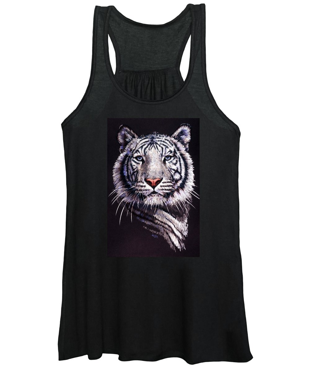 Tiger Women's Tank Top featuring the drawing Sorcerer by Barbara Keith
