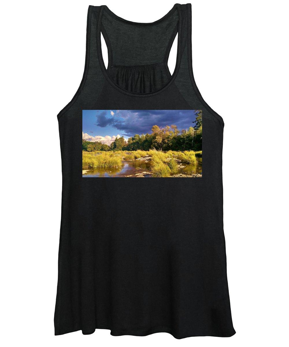 Umpqua Women's Tank Top featuring the photograph South Umpqua River Sky Drama by Liz Snyder