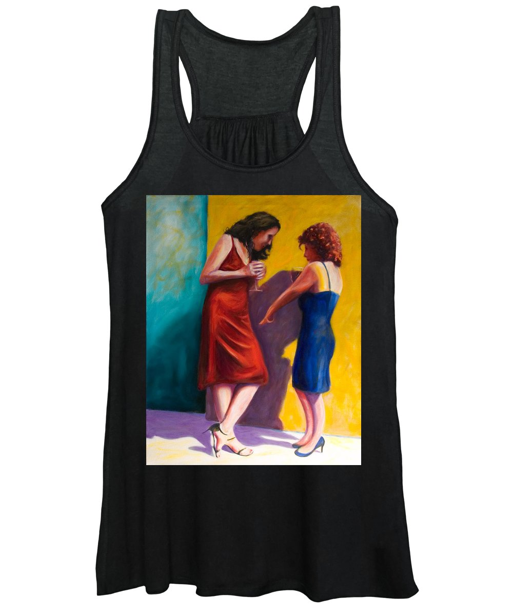 Figurative Women's Tank Top featuring the painting There by Shannon Grissom