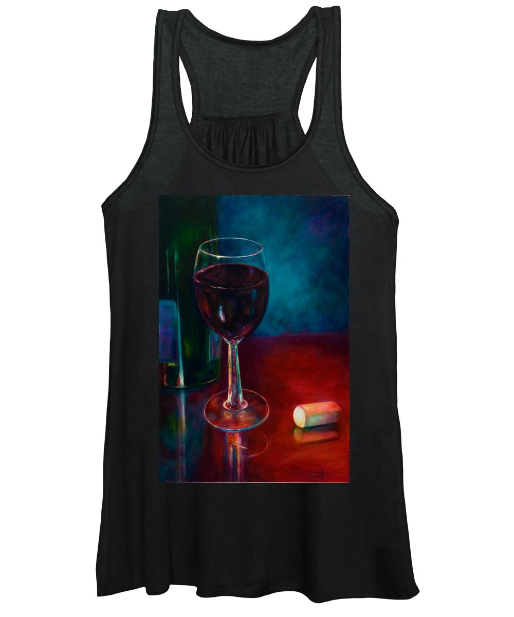 Wine Bottle Women's Tank Top featuring the painting Zinfandel by Shannon Grissom