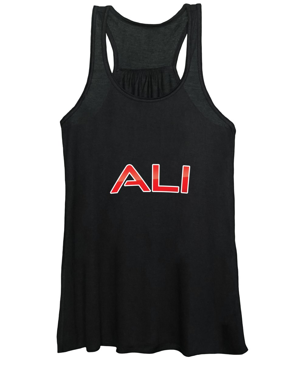Ali Women's Tank Top featuring the digital art Ali by TintoDesigns
