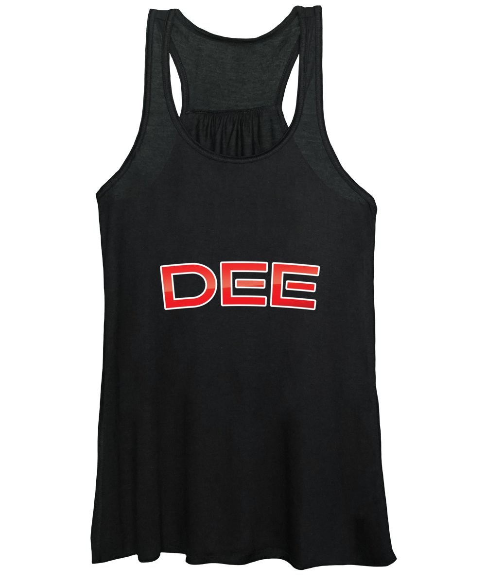 Dee Women's Tank Top featuring the digital art Dee by TintoDesigns