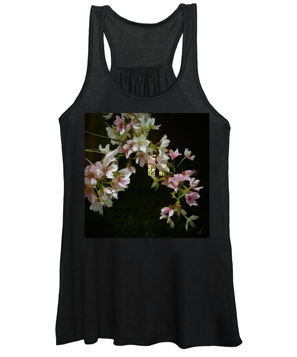 Botanical Women's Tank Top featuring the digital art Ephemera by Gina Harrison
