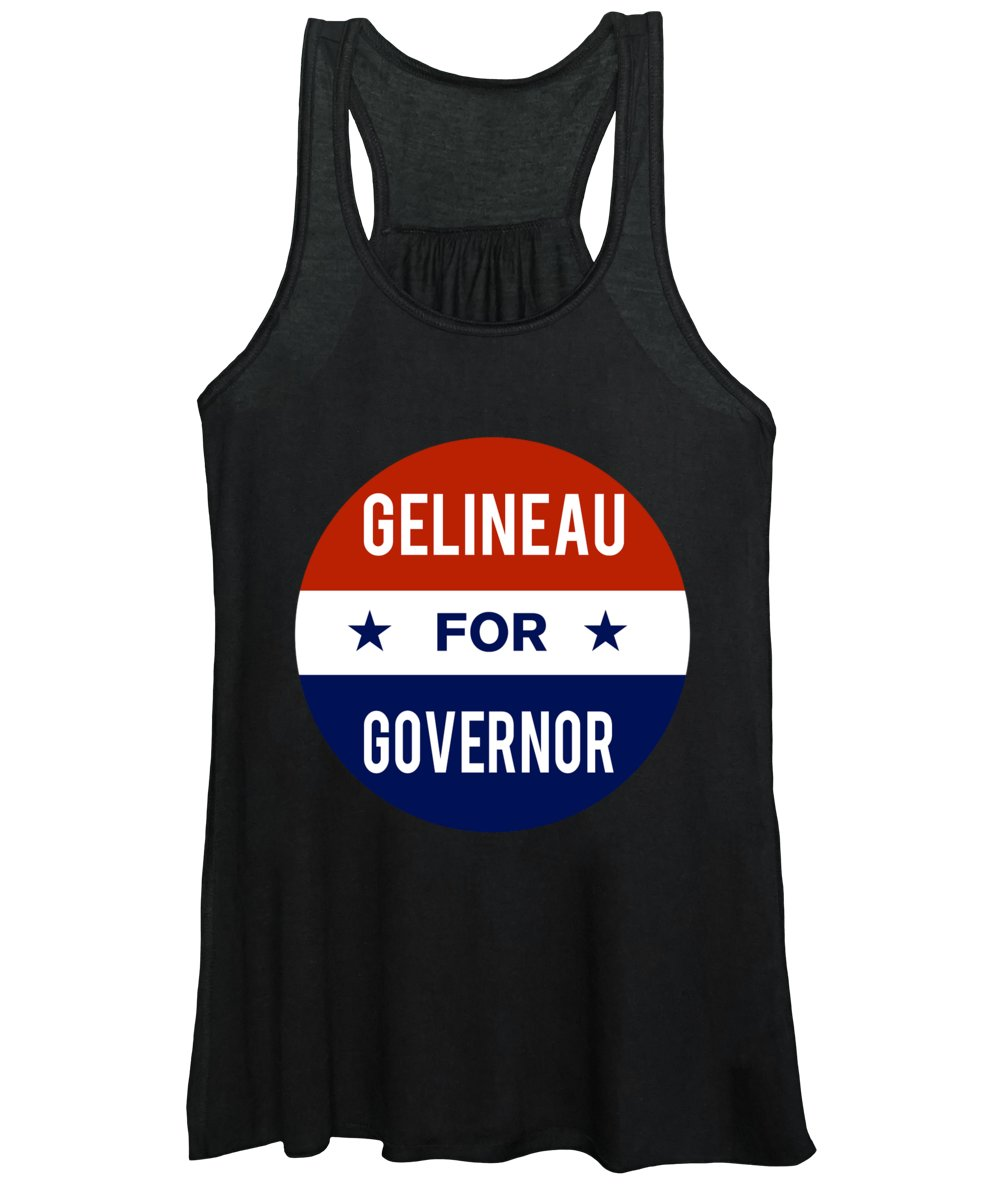 Election Women's Tank Top featuring the digital art Gelineau For Governor 2018 by Flippin Sweet Gear