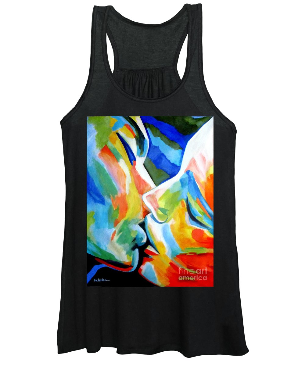 Affordable Original Paintings Women's Tank Top featuring the painting Oneness by Helena Wierzbicki