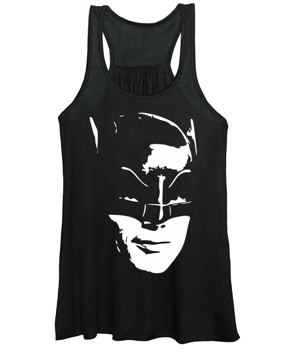 Batman Women's Tank Top featuring the digital art West In Costume Pop Art by Filip Schpindel