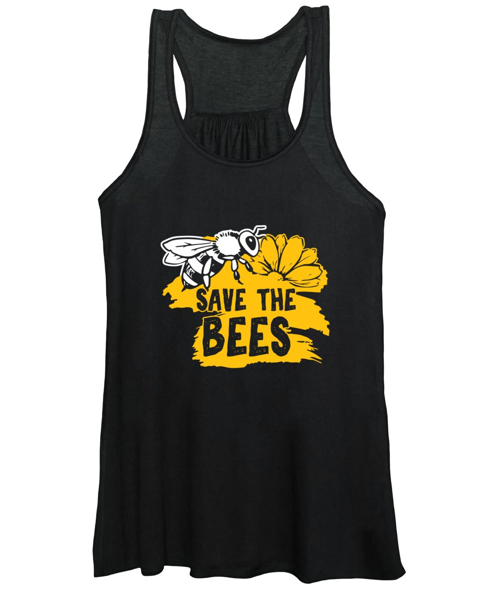 Bee Women's Tank Top featuring the digital art Bee Beehive Beekeeper Honeycomb Honeybee Gift Save The Bees by Thomas Larch