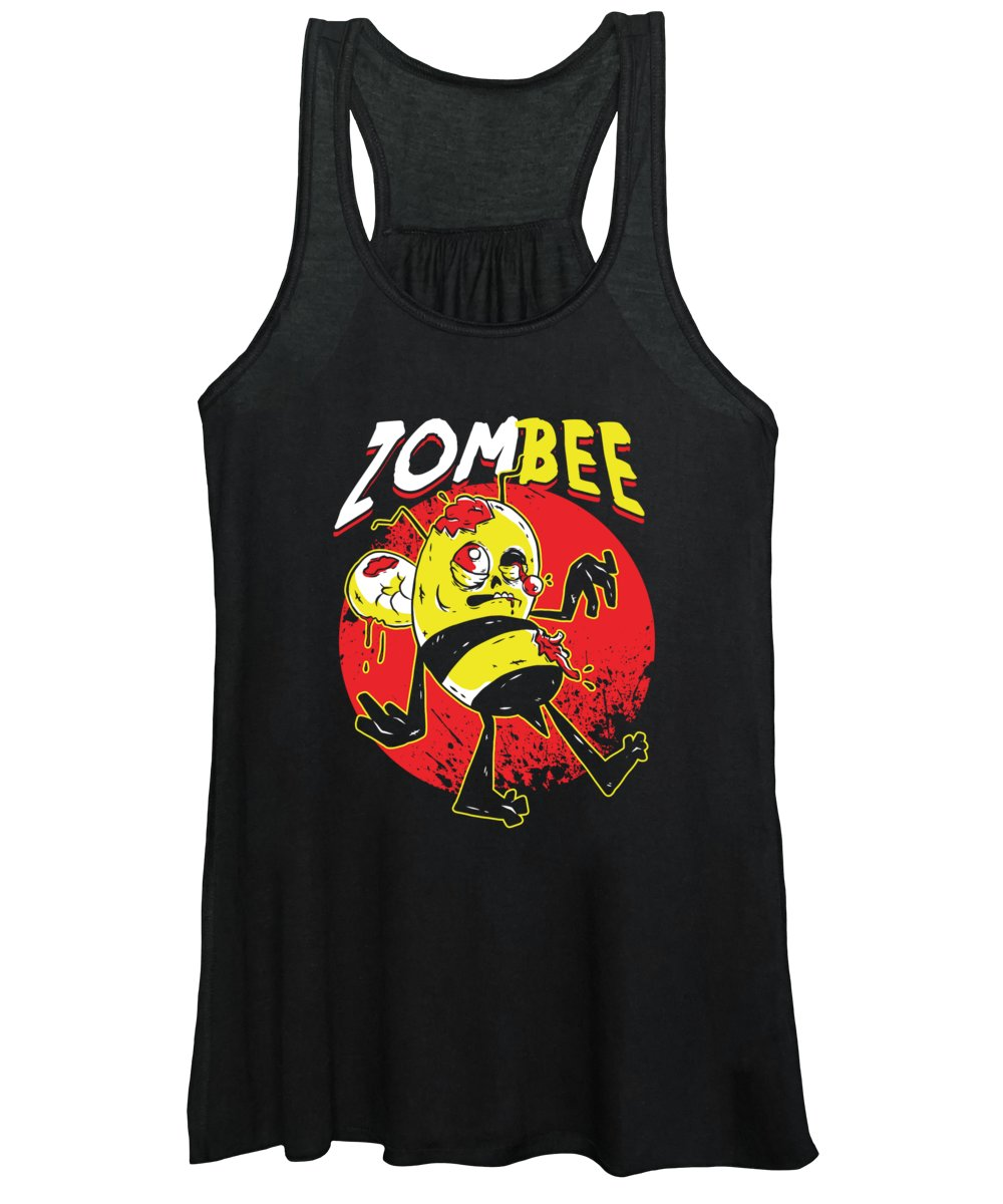 Bee Strong Women's Tank Top featuring the digital art Bees Beehive Beekeeper Halloween Honeybee Gift Funny ZomBee by Thomas Larch