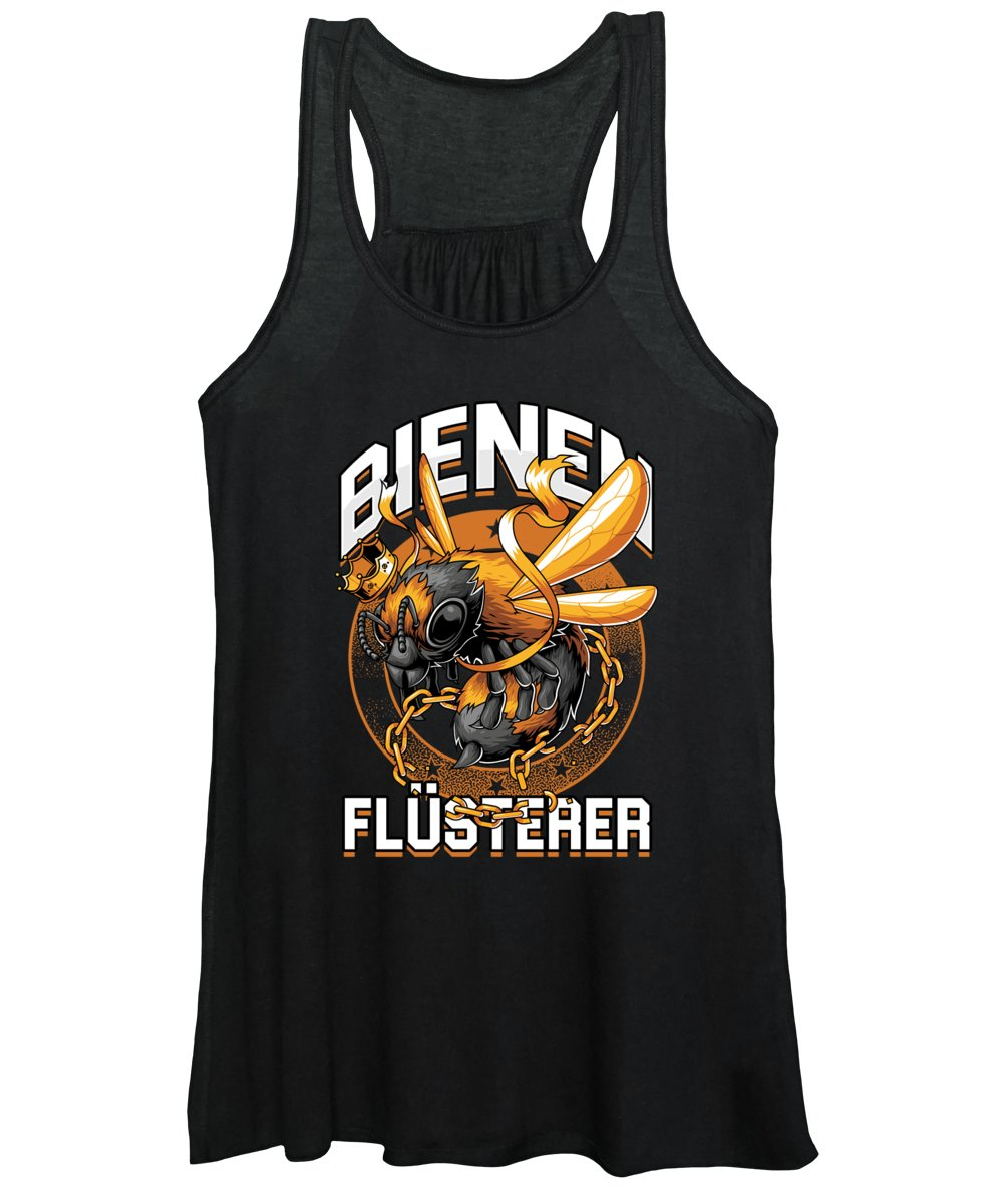 Bee Women's Tank Top featuring the digital art Bienen Flsterer Bee Beekeeper Honeycomb Gift by Thomas Larch