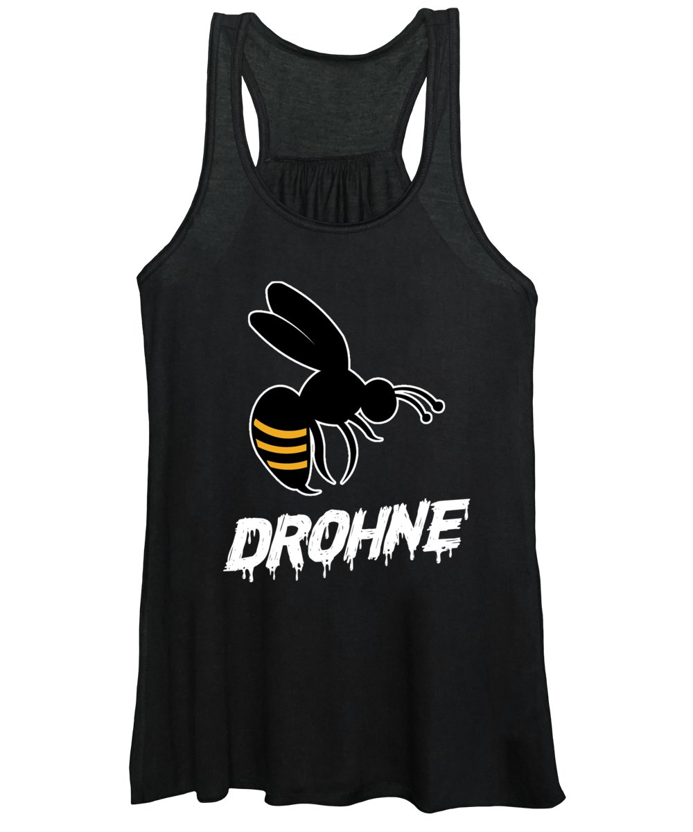 Bee Women's Tank Top featuring the digital art Drohne Funny Bee Beekeeper Beehive Honeycomb Gift by Thomas Larch