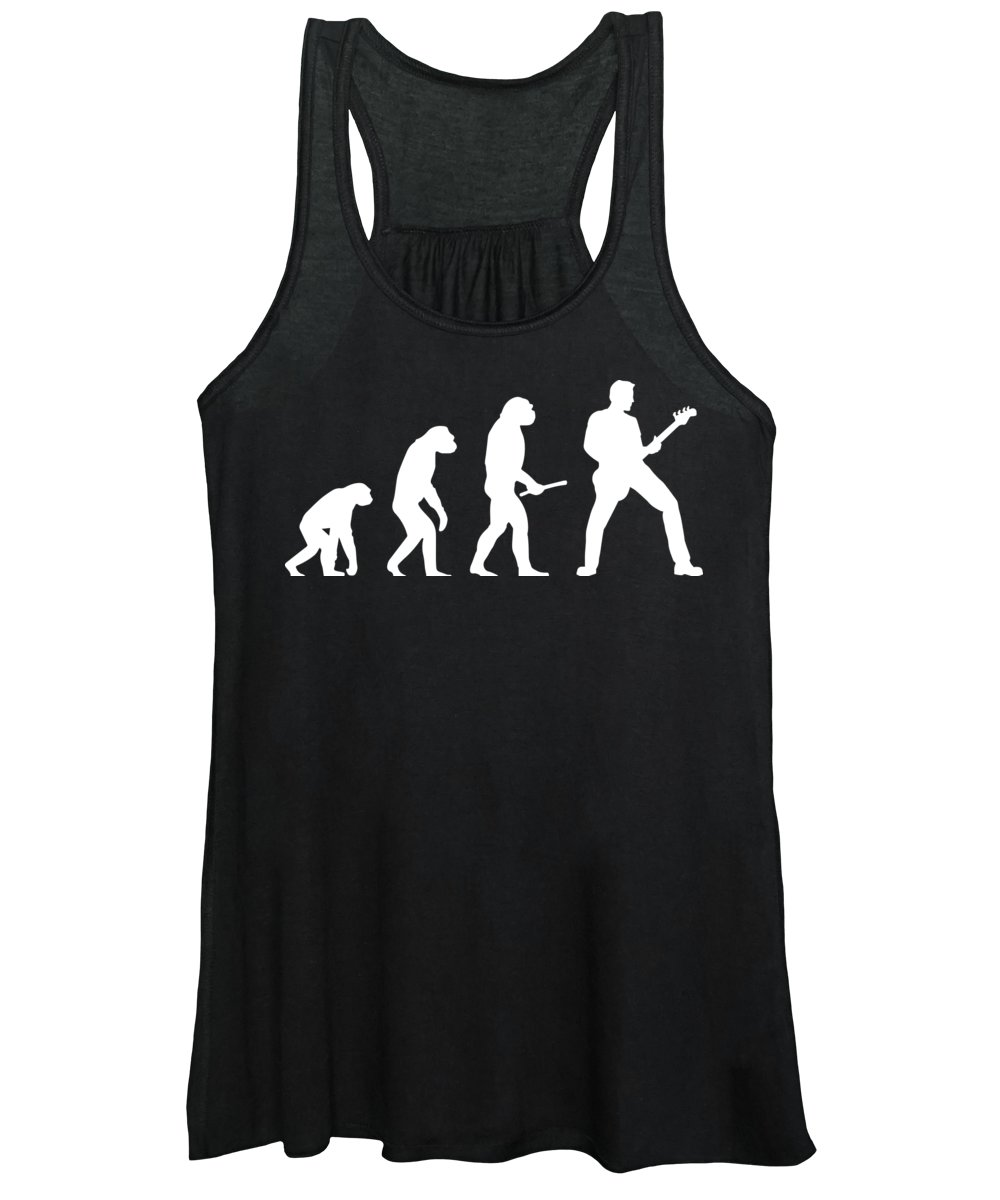 Evolution Of Guitar Women's Tank Top featuring the digital art Guitar Evolution by Jacob Zelazny