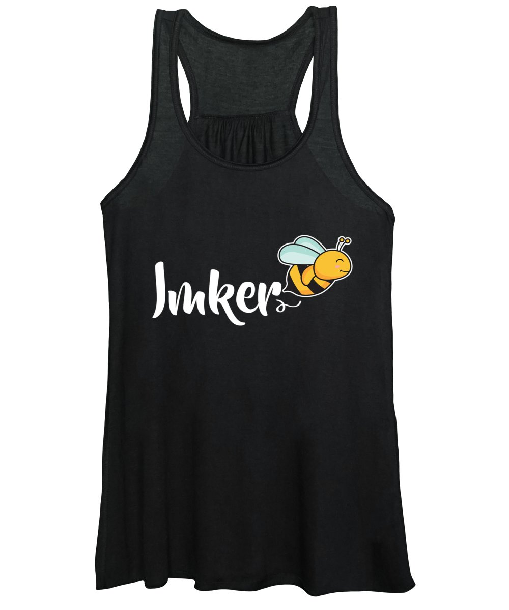 Bee Women's Tank Top featuring the digital art Imker Bee Beekeeper Beehive Honeycomb Gift by Thomas Larch