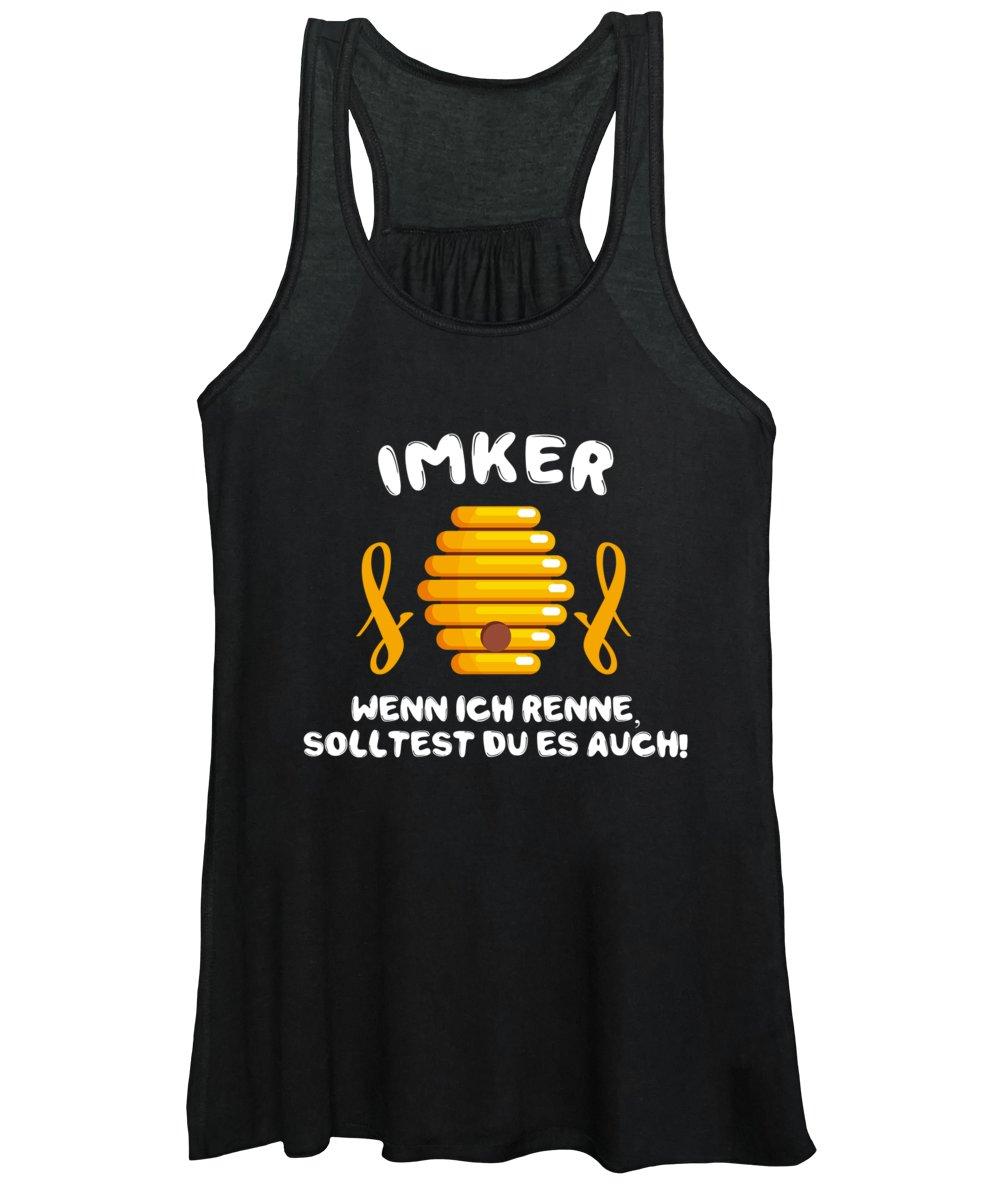 Bee Women's Tank Top featuring the digital art Imker Wenn Ich Renne Solltest Du Es Auch Bee Gift by Thomas Larch