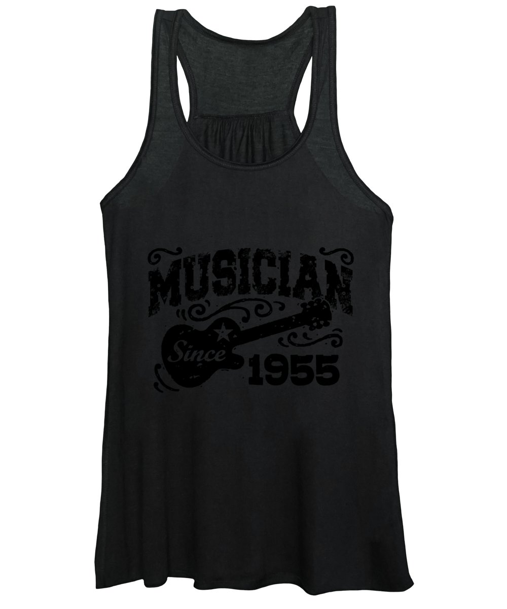Skeptical Guitarist Women's Tank Top featuring the digital art Musician Since 1955 by Jacob Zelazny