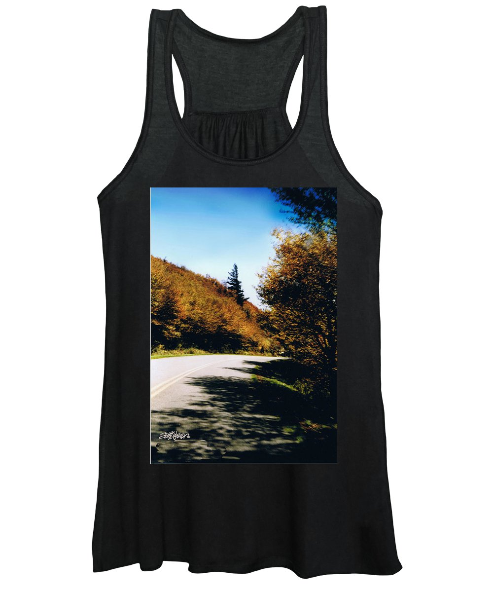 High In The Great Smoky Mtn. As You Round A Curve Stands This Noble Spruce. Women's Tank Top featuring the photograph Single Spruce by Seth Weaver