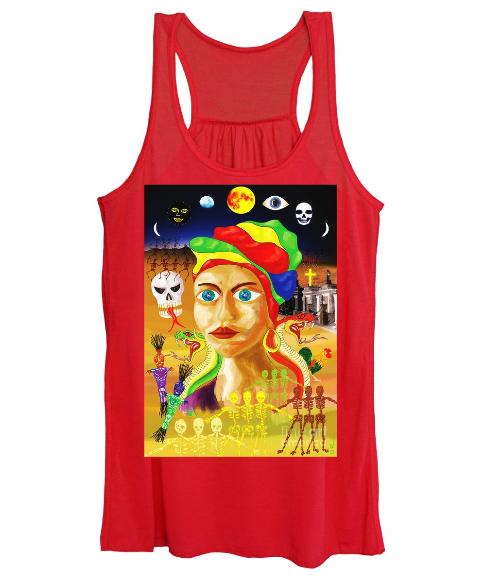 Marie. New Orleans Women's Tank Top featuring the painting Marie Laveau by Neil Finnemore