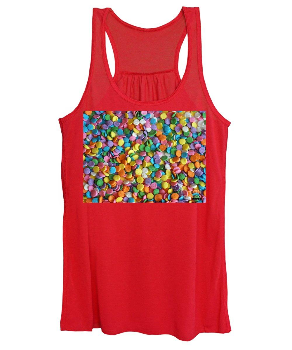 Sugar Confetti Women's Tank Top featuring the photograph Sugar Confetti by Methune Hively