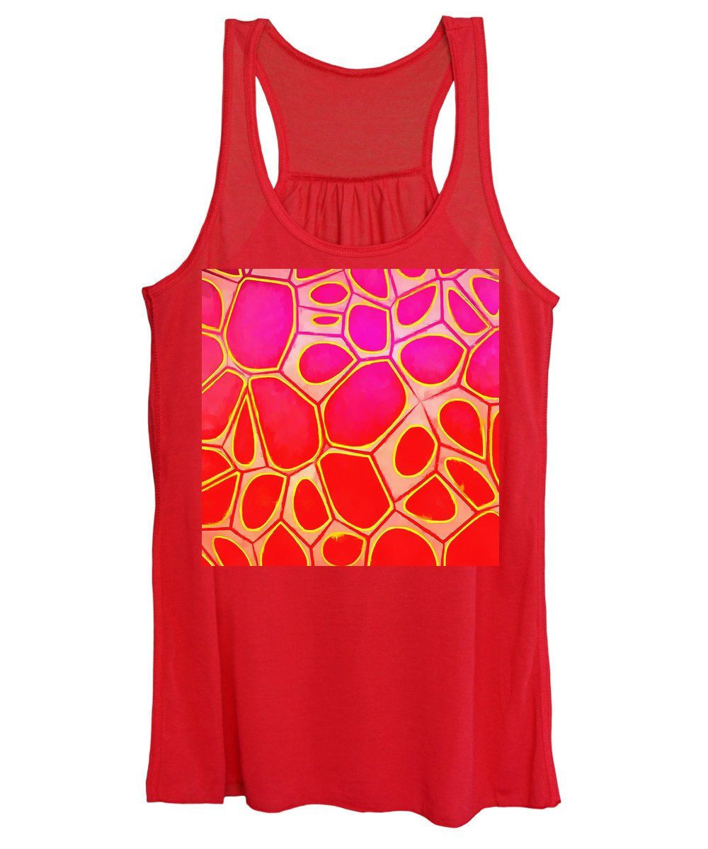 Painting Women's Tank Top featuring the painting Cells Abstract Three by Edward Fielding