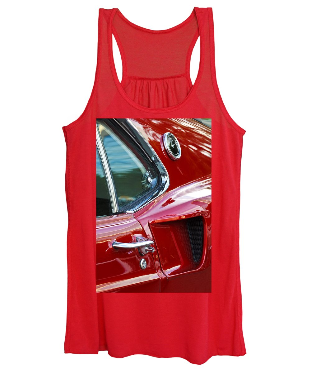 1969 Ford Mustang Mach 1 Women's Tank Top featuring the photograph 1969 Ford Mustang Mach 1 Side Scoop 1969 by Jill Reger