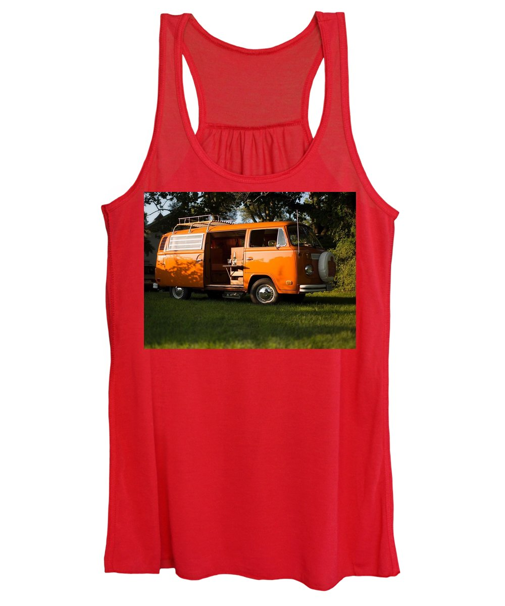 Volkswagen Bus T2 Westfalia Women's Tank Top featuring the photograph Volkswagen Bus T2 Westfalia by Jackie Russo