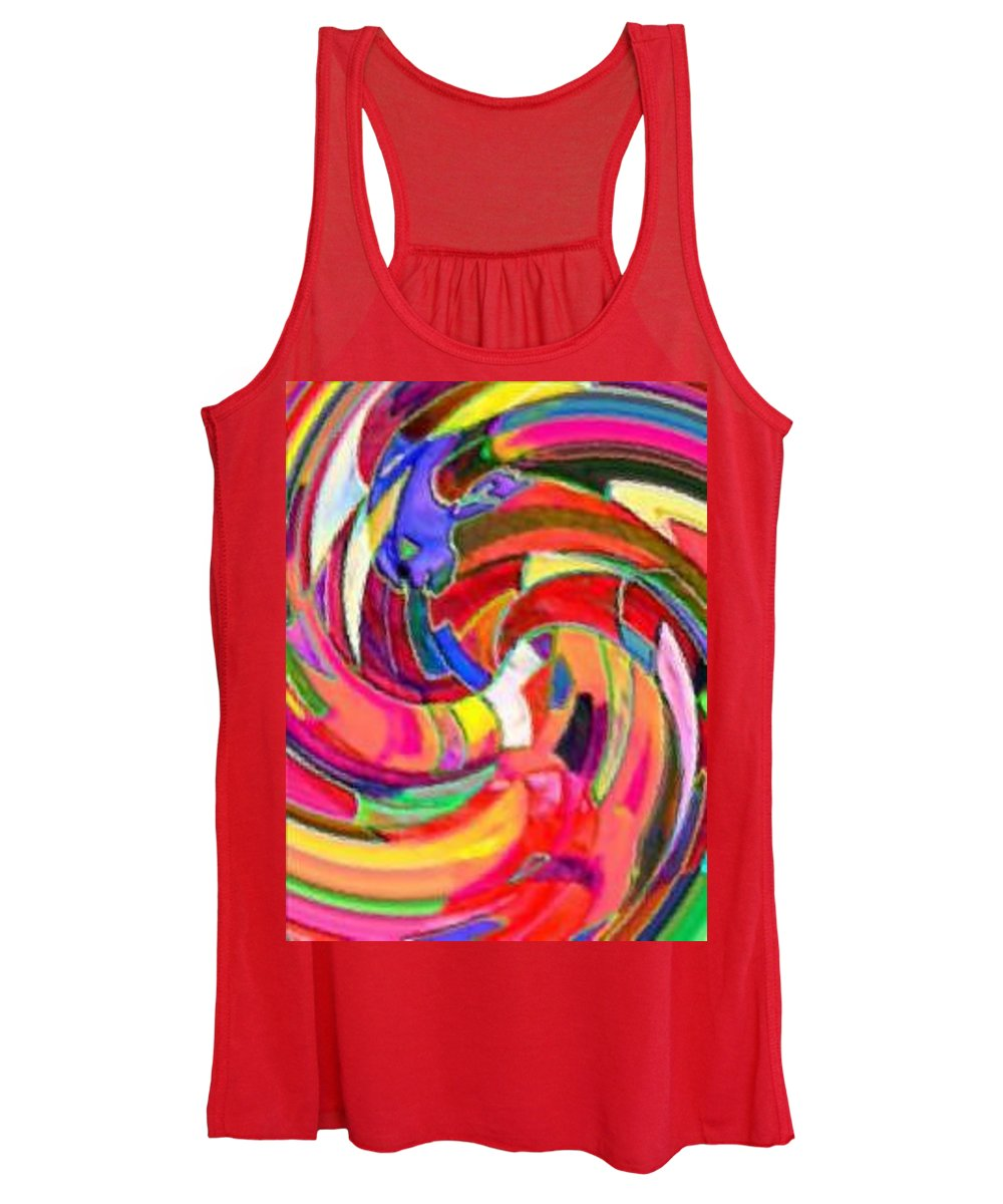 Digital Image Women's Tank Top featuring the digital art AB by Andrew Johnson