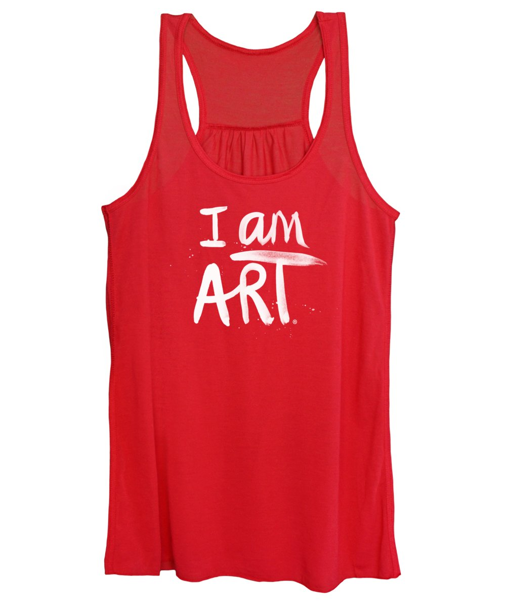 I Am Art Women's Tank Top featuring the mixed media I Am Art- Painted by Linda Woods