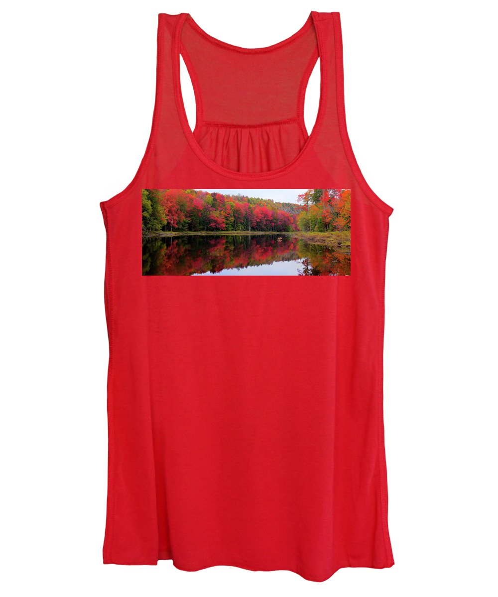 Landscape Women's Tank Top featuring the photograph Autumn Reflected by David Patterson