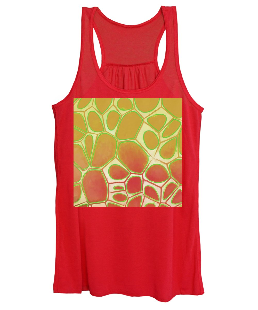 Painting Women's Tank Top featuring the painting Cells Abstract Five by Edward Fielding