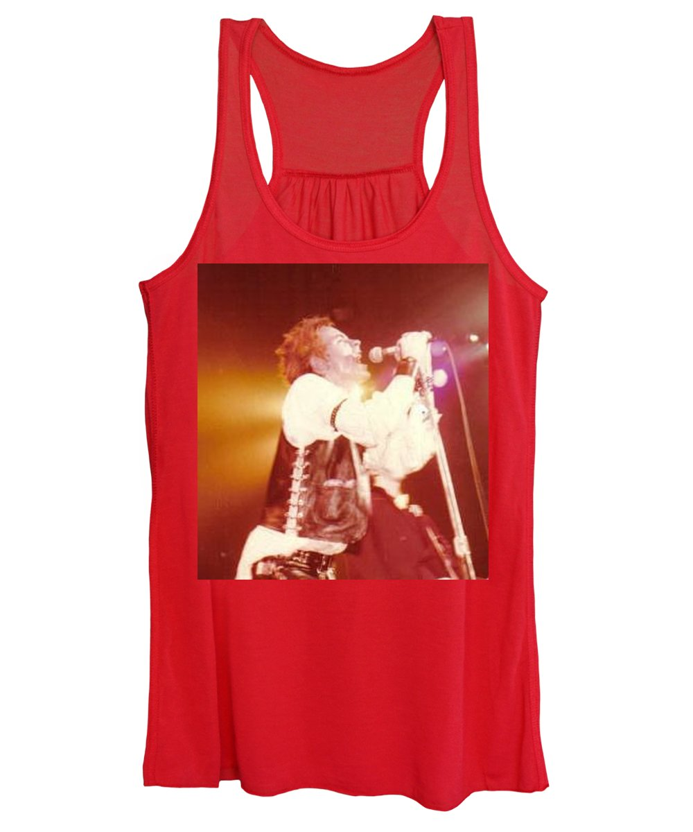 John Rotten-1978 Copyrighted Dawn Wirth Women's Tank Top featuring the photograph John Rotten-1978 In San Francisco  by Dawn Wirth