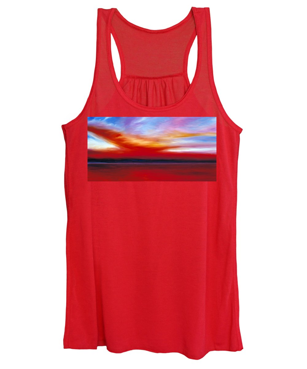 Clouds Women's Tank Top featuring the painting October Sky by James Christopher Hill