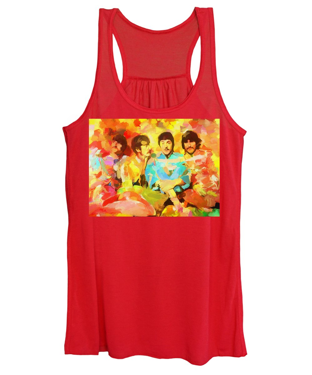 Sgt. Peppers Lonely Hearts Women's Tank Top featuring the painting Sgt. Peppers Lonely Hearts by Dan Sproul