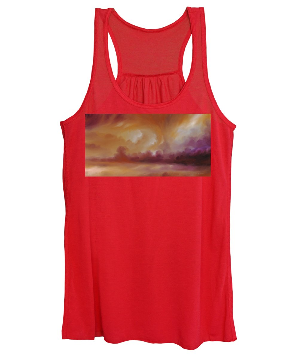 Tempest Women's Tank Top featuring the painting Storm Clouds 2 by James Christopher Hill