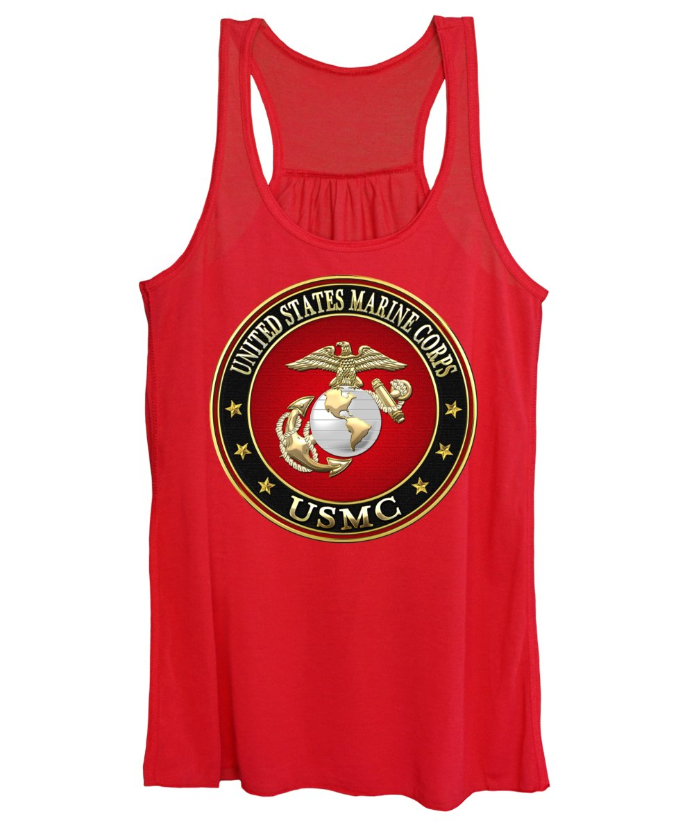 Military Insignia Digital Art Women's Tank Tops