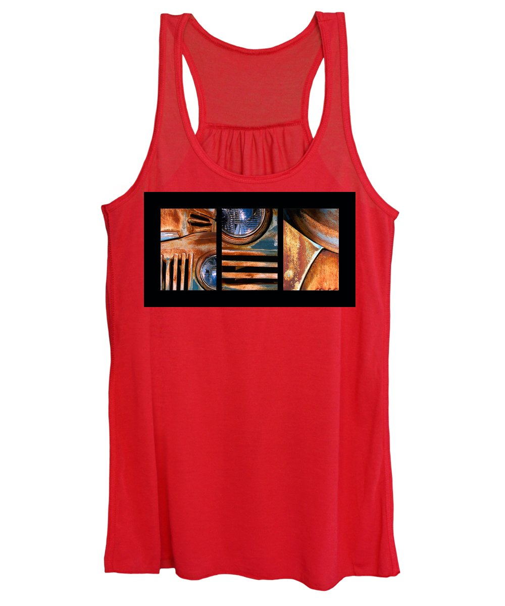 Abstract Women's Tank Top featuring the photograph Red Head On by Steve Karol