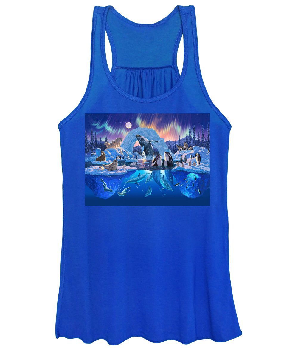 Animal Women's Tank Top featuring the photograph Arctic Harmony by MGL Meiklejohn Graphics Licensing