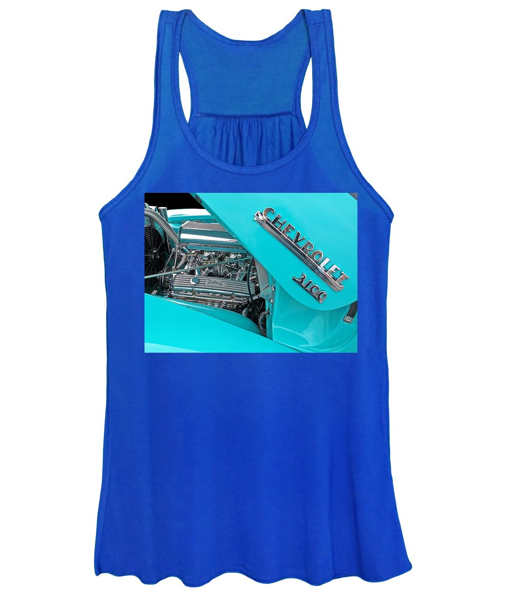 Hot Rod Women's Tank Top featuring the photograph Chevy 3100 Hot Rod by Gill Billington