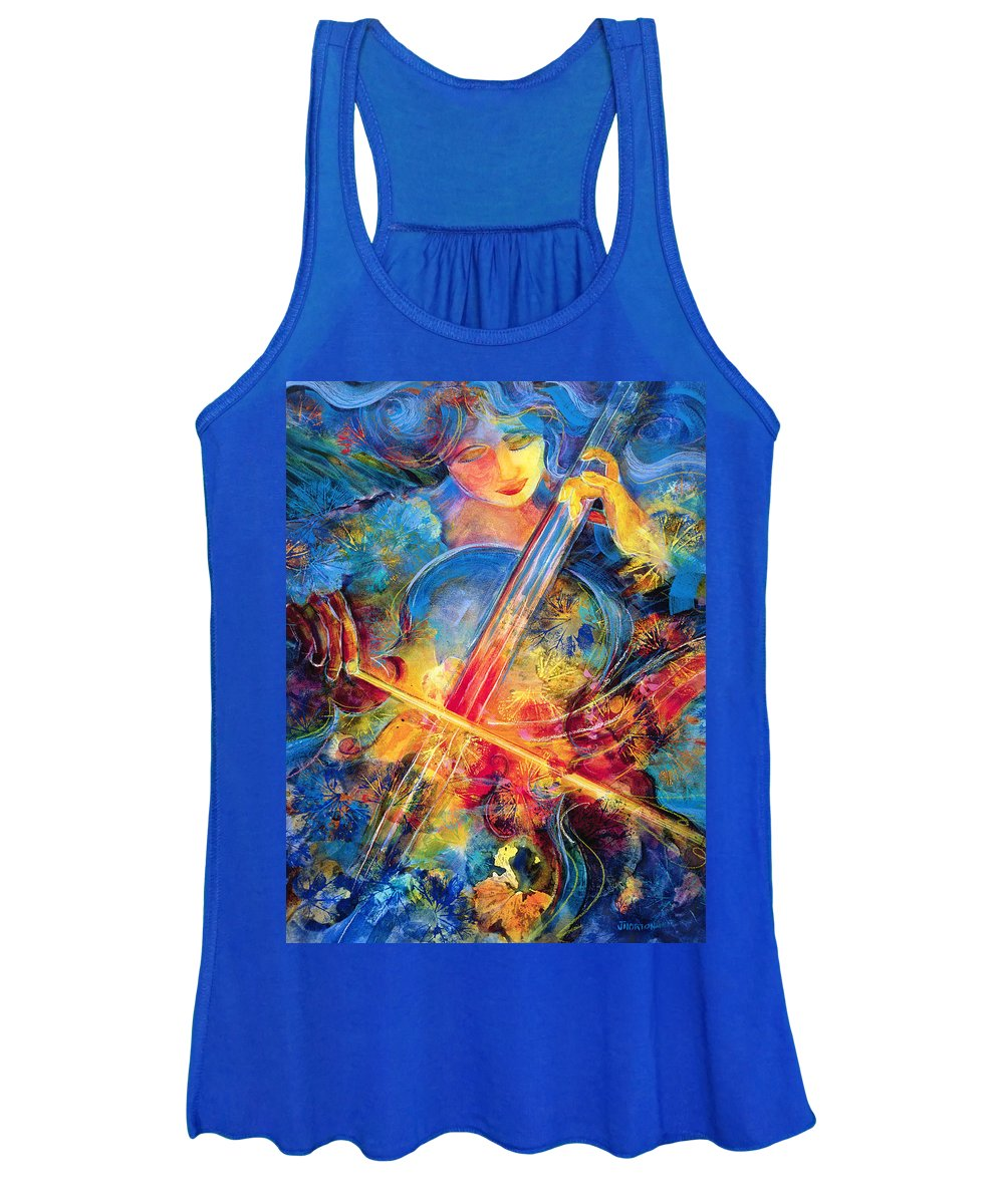 Jen Norton Women's Tank Top featuring the painting No Blue Notes by Jen Norton